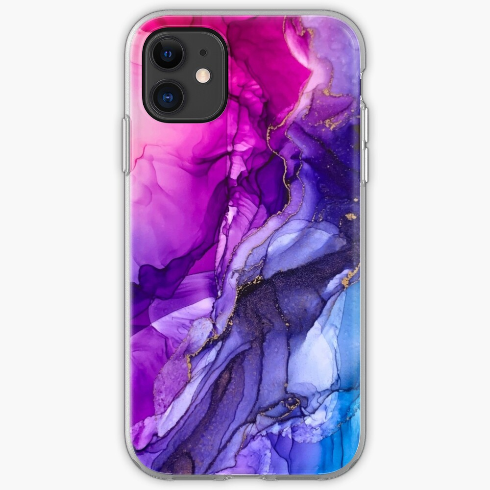 Abstract Vibrant Rainbow Ombre iPhone Case & Cover