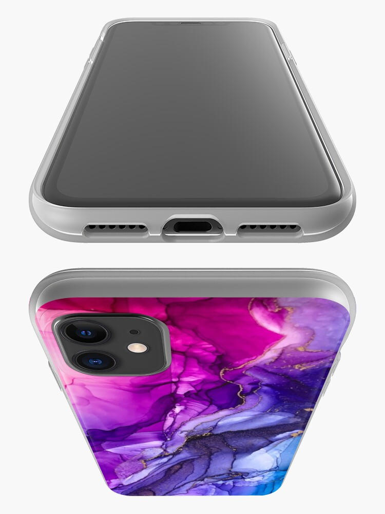 Alternate view of Abstract Vibrant Rainbow Ombre iPhone Case & Cover