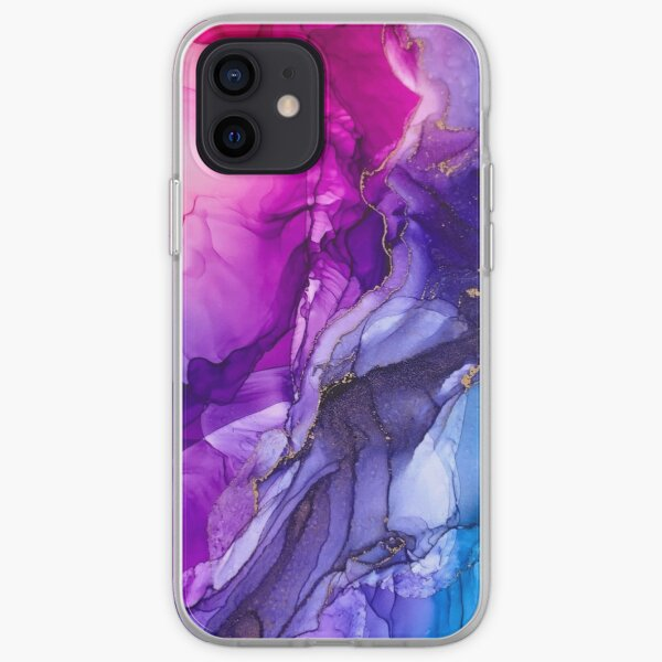 Abstract Vibrant Rainbow Ombre iPhone Soft Case