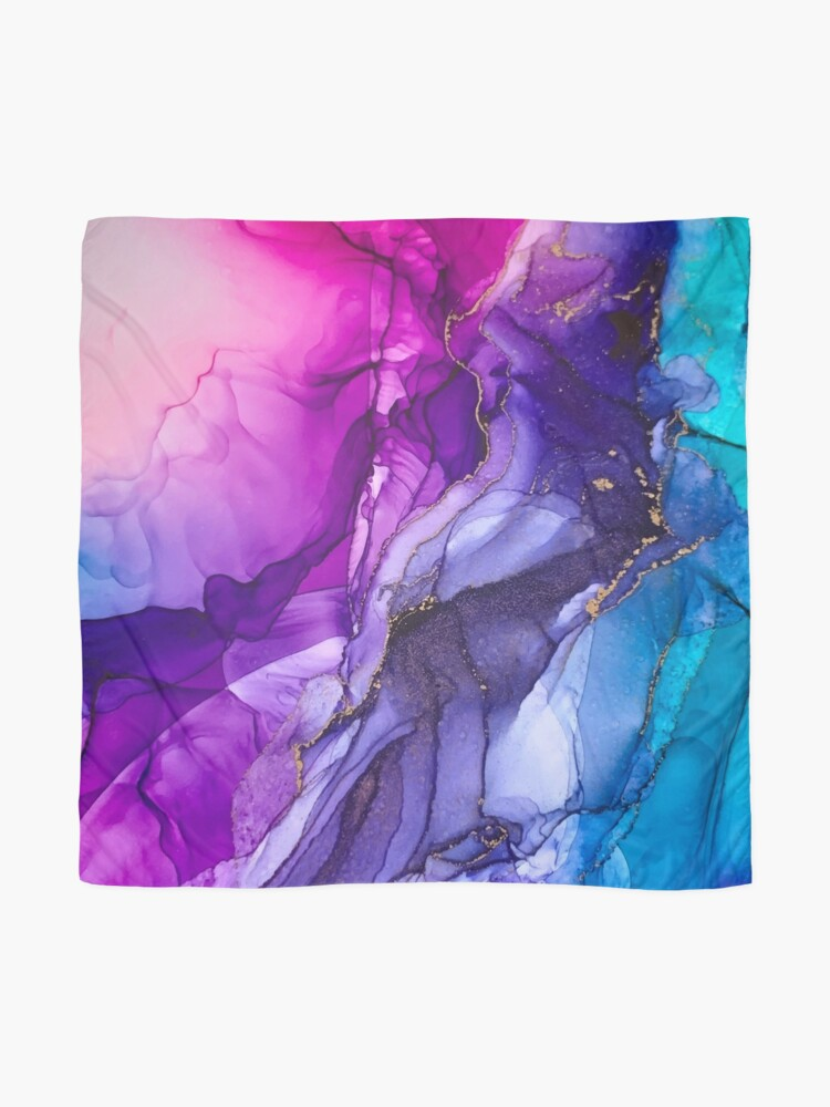 Alternate view of Abstract Vibrant Rainbow Ombre Scarf