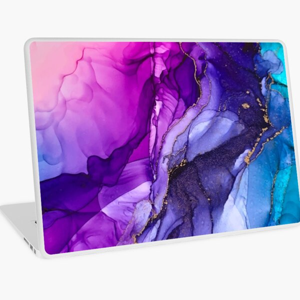 Abstract Vibrant Rainbow Ombre Laptop Skin