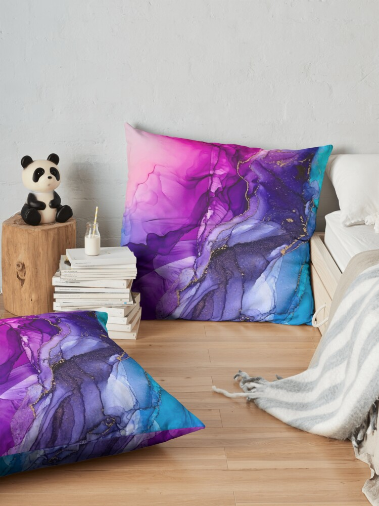 Alternate view of Abstract Vibrant Rainbow Ombre Floor Pillow