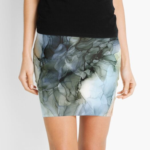 Abstract Southwest Desert Landscape Inspired Mini Skirt