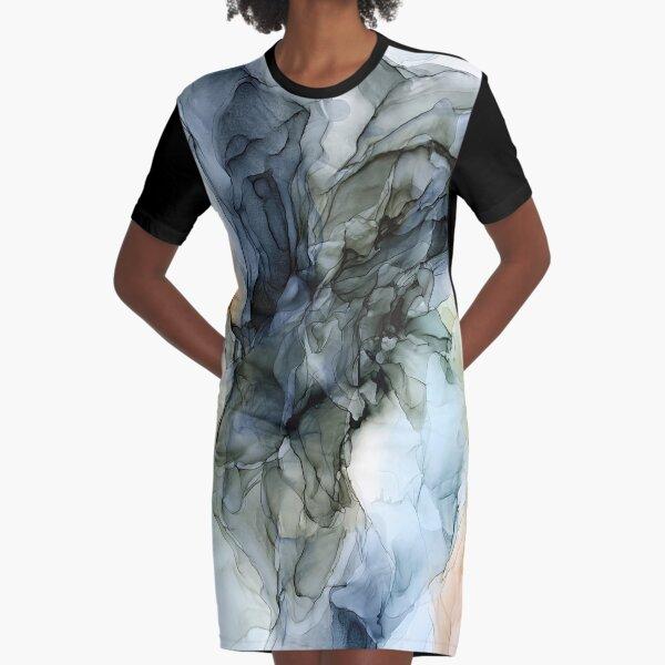 Abstract Southwest Desert Landscape Inspired Graphic T-Shirt Dress
