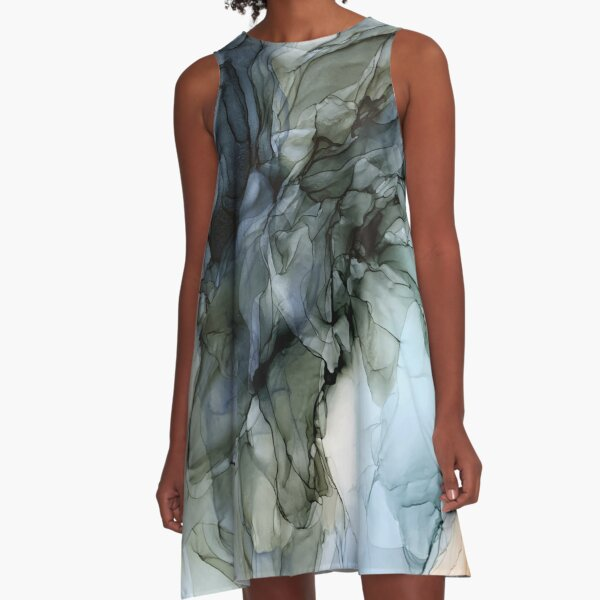 Abstract Southwest Desert Landscape Inspired A-Line Dress