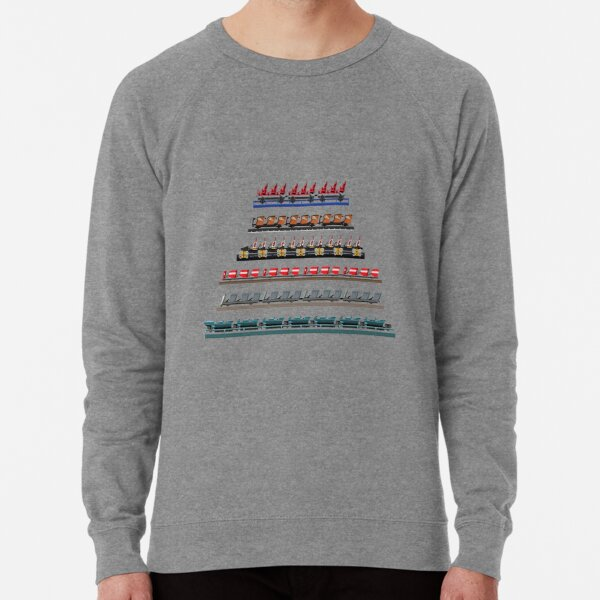 Kennywood Coaster Trains Design Lightweight Sweatshirt