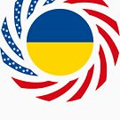 Ukrainian American Multinational Patriot Flag Series by Carbon-Fibre Media