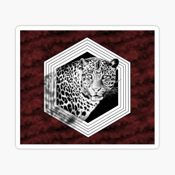 Leopard with axes for Shango Sticker