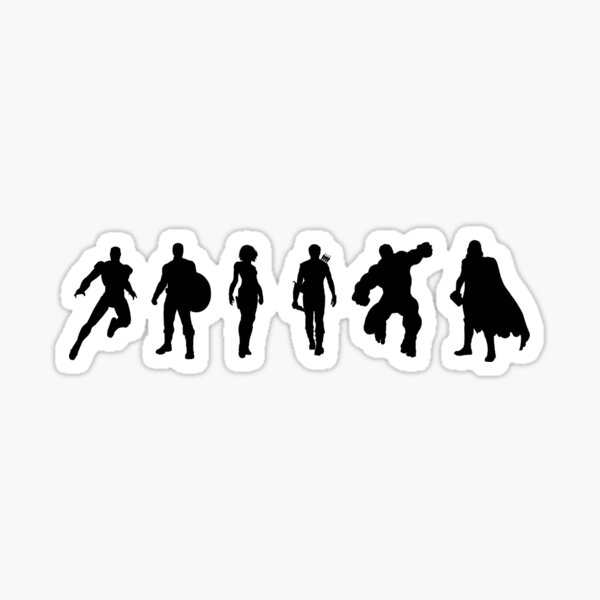 Super Heroes Sticker