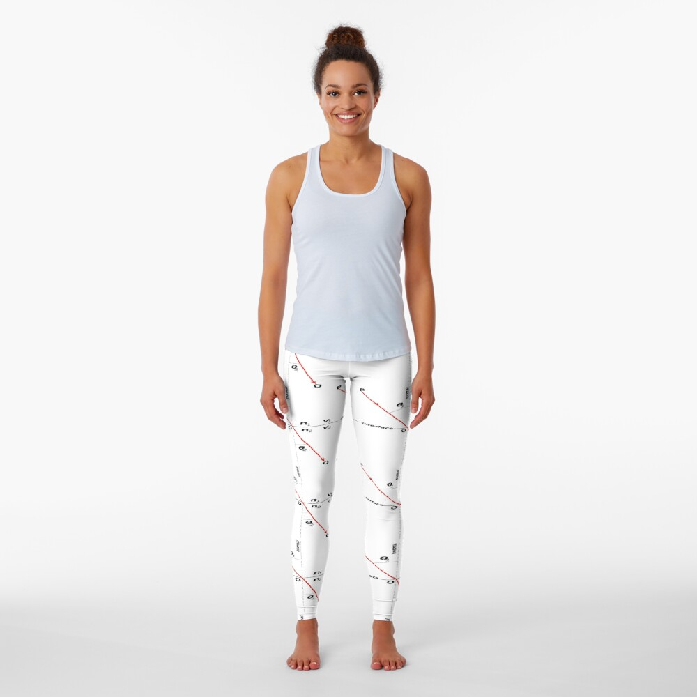 Law of #Refraction, Snell's Law, #Snells #Law #SnellsLaw, Physics, Optics Leggings