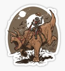 Triceratops CowBot Sticker