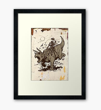 Triceratops CowBot Framed Print