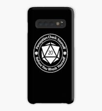 Perception Check Yourself Before You Wreck Yourself Case/Skin for Samsung Galaxy