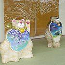 Japanese ceramic cats. by johnrf