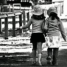 BFF's - B/W Version by Trish Woodford