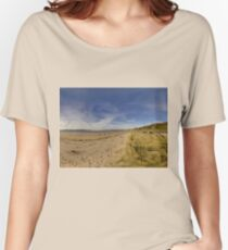 Lisfannon Beach, Fahan, County Donegal, Equirectangular  Women's Relaxed Fit T-Shirt