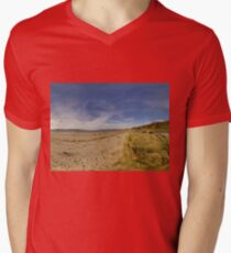 Lisfannon Beach, Fahan, County Donegal, Equirectangular  Men's V-Neck T-Shirt
