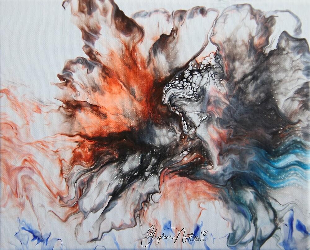 dutch pour paint - signed by Gaylene Norton