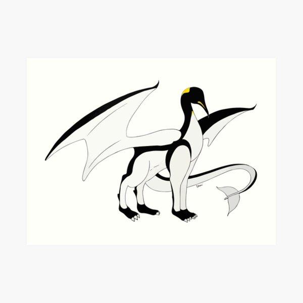 The Penguin-Dragon (Lastest evolution) Art Print