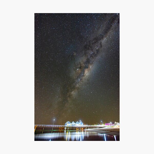 Milky Way over Busselton Jetty Photographic Print