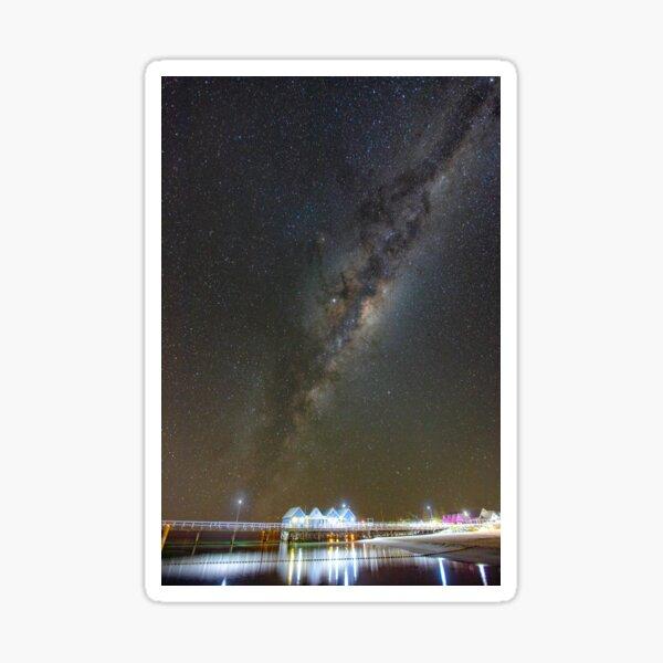 Milky Way over Busselton Jetty Sticker