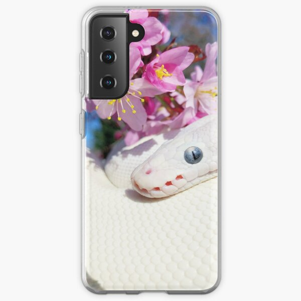 Sakura and a white snake  Samsung Galaxy Soft Case