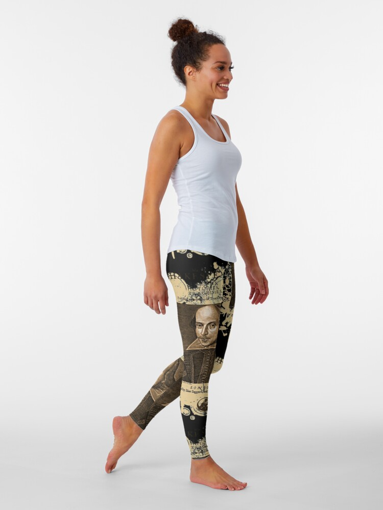 Alternate view of Shakespeare First Folio Front Piece Leggings