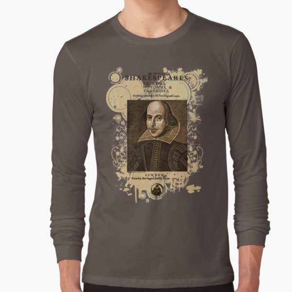 Shakespeare First Folio Front Piece Long Sleeve T-Shirt