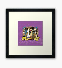 SuperWomen of the 70s - DyNoMite! Framed Print