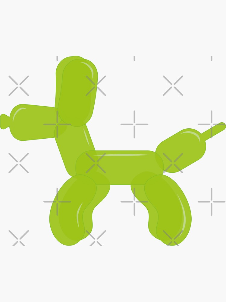 Simplee The Best: Green Balloon Dog - Sticker by SimpleeShop