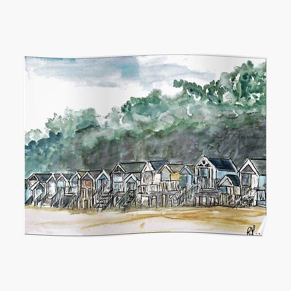 Beach Huts At  Wells-Next-The-Sea Poster