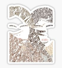Paper Towns Movie Poster Typography (1 of 7) Sticker