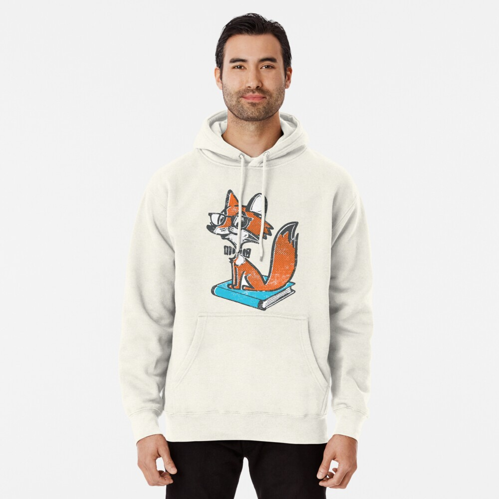 Fox Librarian Pullover Hoodie