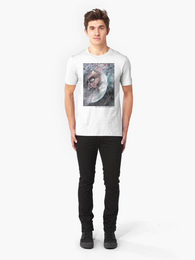 Alternate view of Moon In Man Slim Fit T-Shirt