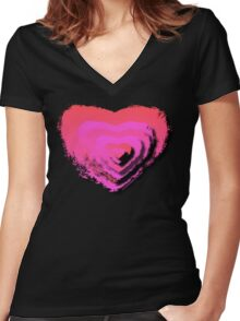 LAYERED LOVE Women's Fitted V-Neck T-Shirt