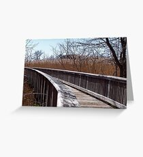 Heading into pampas territory Greeting Card