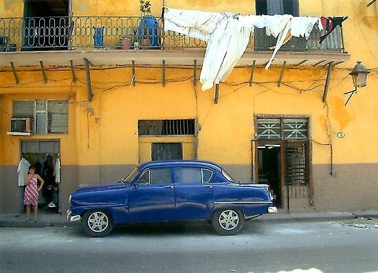 Blue car by IngridSonja