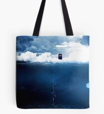 There is a man who lives on a cloud. Tote Bag