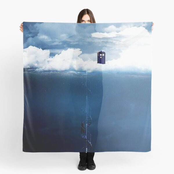 There is a man who lives on a cloud. Scarf