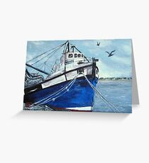 Harmony in Blue Greeting Card