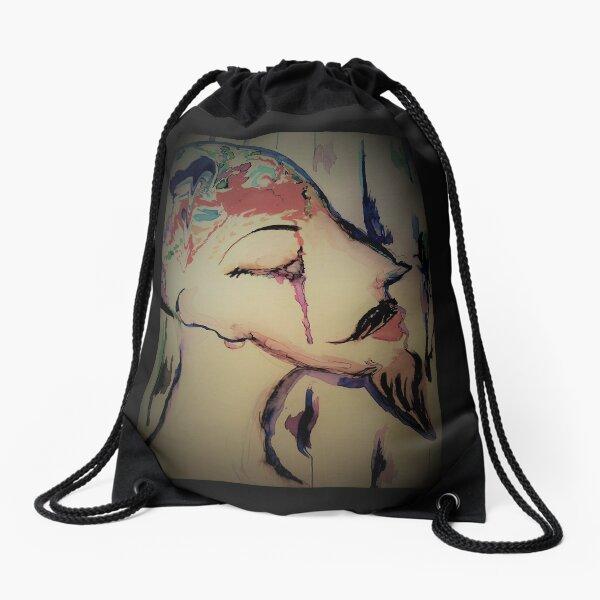 only watercolor Drawstring Bag