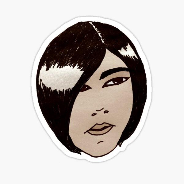 Black Haired Girl Sticker