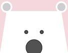 Peek-a-Boo Bear, Soft Pink by Kendra Shedenhelm