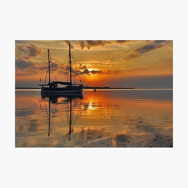 An early summer morning on Lake Grevelingen Photographic Print