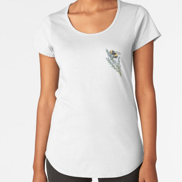 Bee on Lavender  Premium Scoop T-Shirt