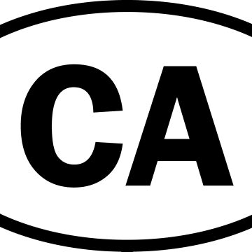 California - CA - oval sticker by welikestuff