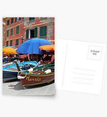 Vernazza Boats Postcards
