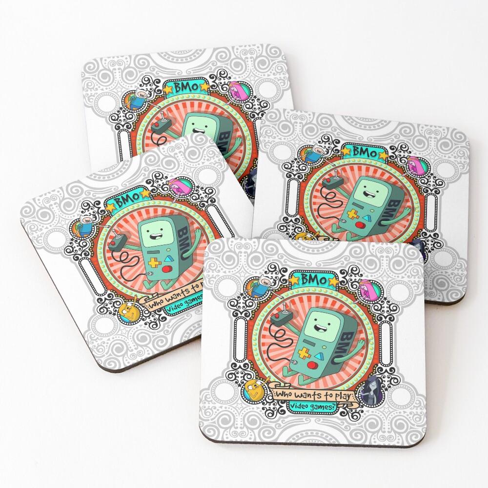 bmo BMO Adventure Time Beemo Coasters (Set of 4)