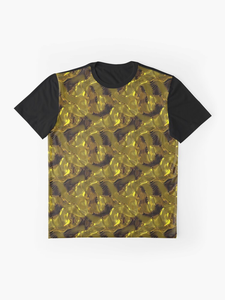 Alternate view of Decorative design ,pattern, textile,cover.Gold. Graphic T-Shirt