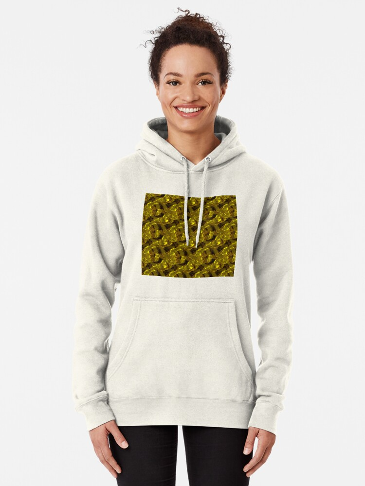 Alternate view of Decorative design ,pattern, textile,cover.Gold. Pullover Hoodie